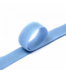 """Контактная лента """"Липучка"""", 25 мм, голубая"""