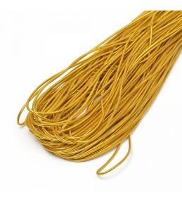 Резинка шляпная (шнур круглый) золото