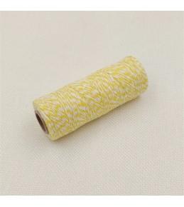 Двухцветный хлопковый шнур, желтый, 1 м