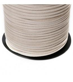 Шнур, искусственная замша, слоновая кость, 3 мм