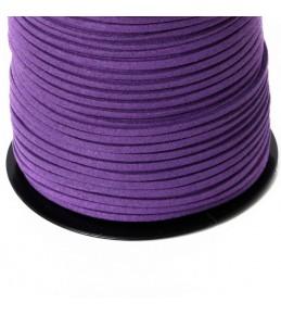 Шнур, искусственная замша, фиолетовый, 3 мм