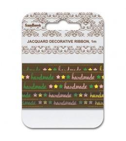 """Лента жаккардовая  """"Handmade кофе"""""""
