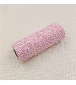 Двухцветный хлопковый шнур, розовый, 1 м