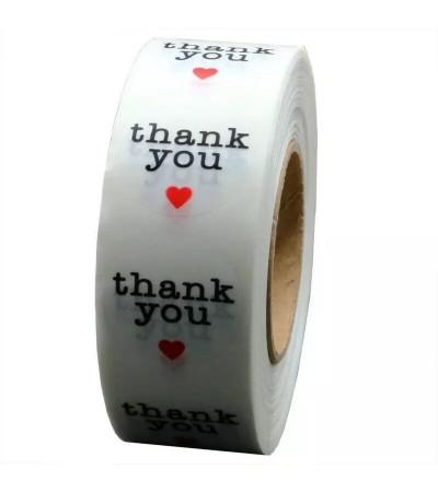 """Наклейки прозрачные """"Thank you"""" 10 штук"""