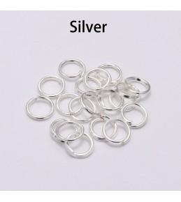 Кольца - переходники, 6 мм, серебро, 10 шт