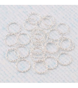 Кольца-переходники витые, 12 мм, 10 штук, серебро