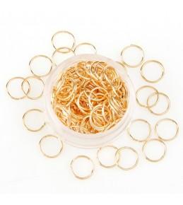 Кольца - переходники, 5 мм, 10 штук, золото