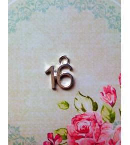 """Металлическая подвеска """"16"""""""