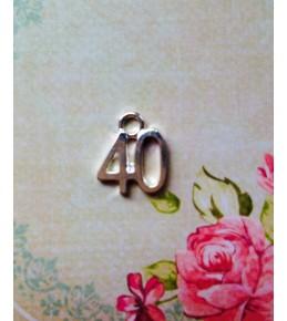 """Металлическая подвеска """"40"""""""