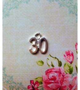 """Металлическая подвеска """"30"""""""