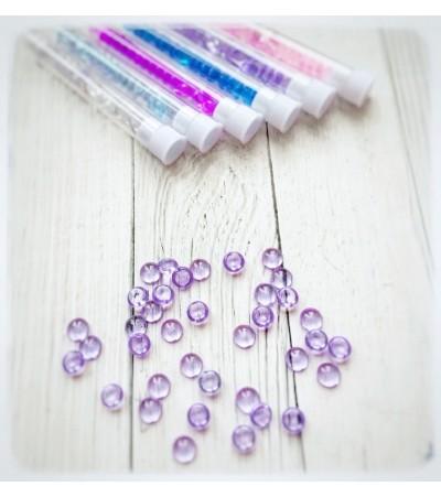 Капли акриловые, фиолетовые, 20 шт, 7 мм