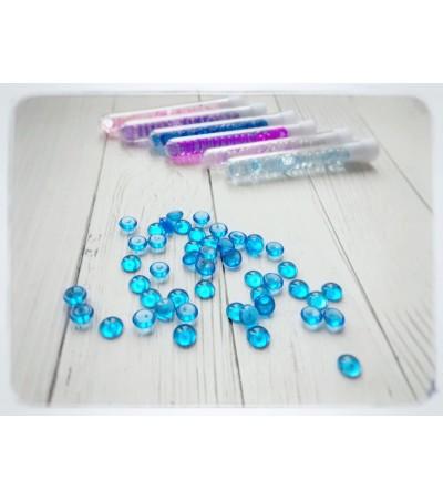 Капли акриловые, синие, 20 шт, 7 мм