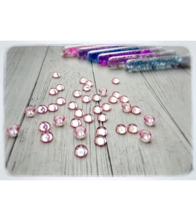 Капли акриловые, розовые, 20 шт, 7 мм