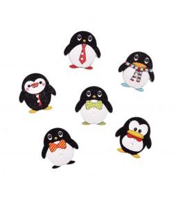 """Деревянные пуговицы """"Пингвин"""", 3 штуки"""
