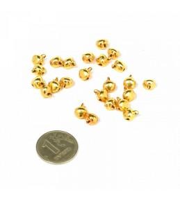 Бубенчики, 6 мм, золото, 5 штук