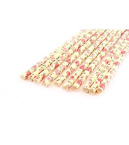 Бумажные трубочки Роза, 10 шт