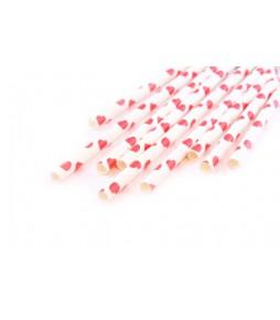 Бумажные трубочки Сердечки, 10 шт