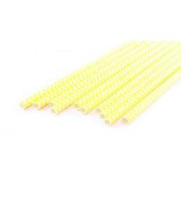 Бумажные трубочки Шеврон желтый, 10 шт