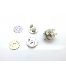 Магнитные застежки, d 14 мм, серебро