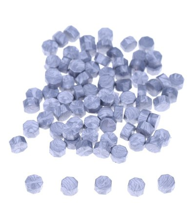 Воск серебро матовое, гранулы, 3 штуки