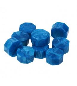 Воск синий перламутровый, гранулы, 3 штуки