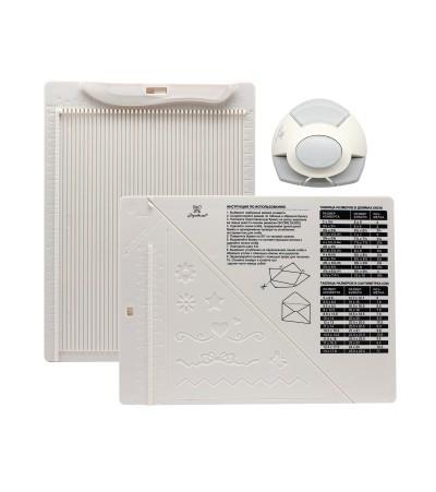 """Доска для создания конвертов и открыток в комплекте с дыроколом угла """"Рукоделие"""""""