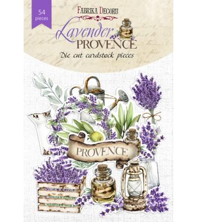 """Набор высечек """"Lavender provence""""  54 шт"""