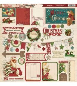"Стикеры из чипборда ""Vintage Christmas"" My Mind's Eye 30*30 см"