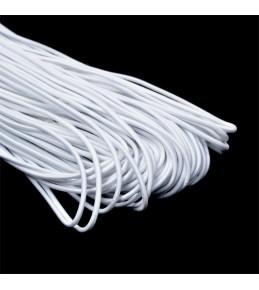 Резинка шляпная (шнур круглый),белый  3 мм