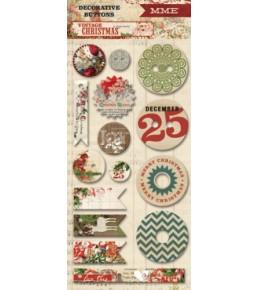 "Декоративные пуговицы ""Vintage Christmas""  My Mind's Eye"