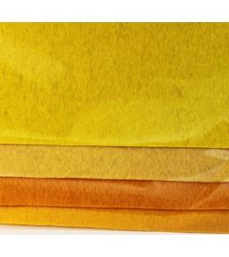 Набор листового фетра, оттенки желтого