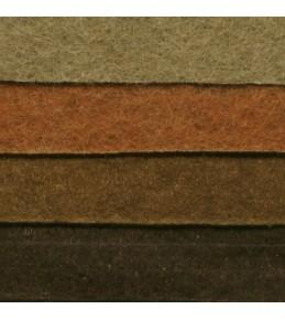 Набор листового фетра, оттенки коричневого