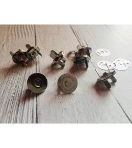 Магнитные застежки, d 14 мм, серебро, тонкие