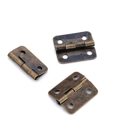 Миниатюрные дверные петли, 15*13 мм, бронза
