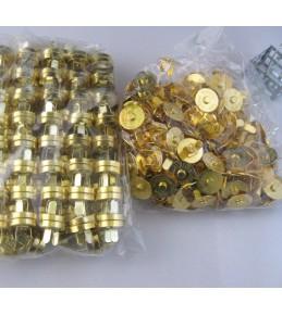 Магнитные застежки, d 14 мм, золото
