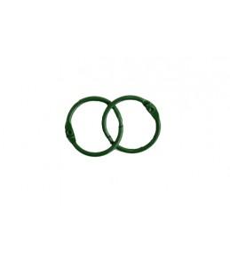 Кольца для альбомов  25 мм зеленые