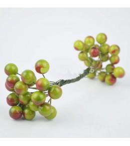 Веточка с ягодками, зеленая