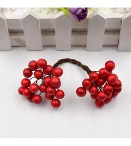 Веточка с ягодками, красная