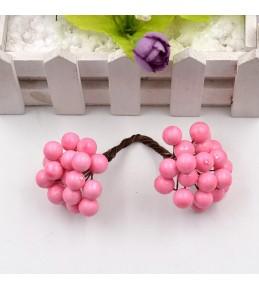 Веточка с ягодками, розовая