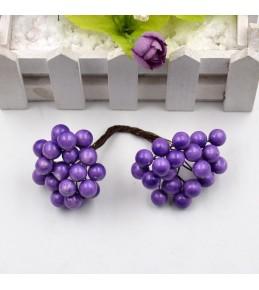 Веточка с ягодками, фиолетовая