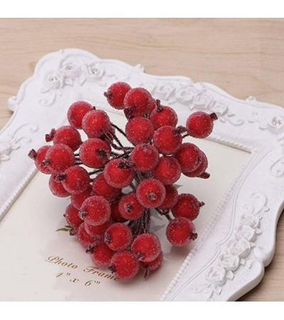 Веточка с ягодками, красная матовая
