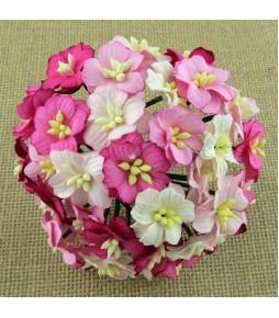 Цветы яблони, 20-25 мм, розовый микс, 5 шт
