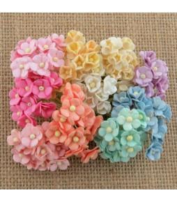 Мини цветы,   пастельный микс,  10 мм, 10 шт.