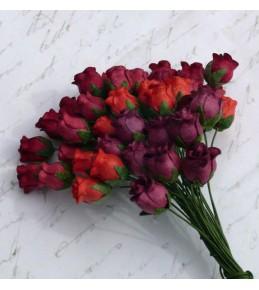 Бутоны роз, красный микс  8-10 мм