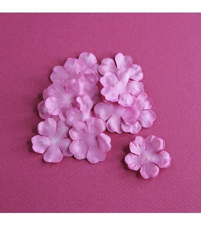 Лепестки бумажные, 29 мм, цвет ярко розовый