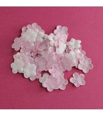 Лепестки бумажные, 23 мм, цвет розовый с принтом