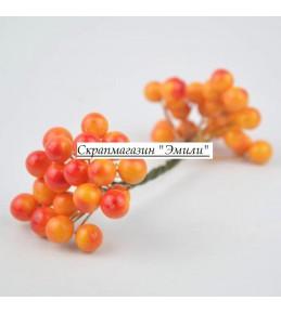 Веточка с ягодками, оранжевая