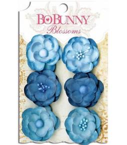 """Бумажные цветы """"Denim Blue Pansy"""""""