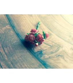 Набор, розы+бутоны, цвет красно белый.