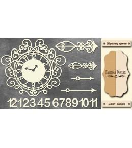 """Набор чипборда """"Часы"""",  10 x 15 см"""